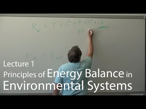 Lecture 1-Principles of Energy Balance in Environmental Systems