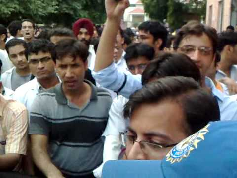 JDA rally in amritsar streets and in front of principal office