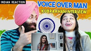 Indian Reaction on Kubra Khan Funny Interview with Voice Over Man