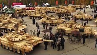 """Танк Т-90МС """"Прорыв"""" на выставке военной техники. Нижний Тагил."""