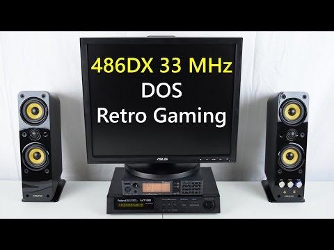 486DX 33 MHz DOS Retro Gaming PC Roland MT-32 Sound Canvas