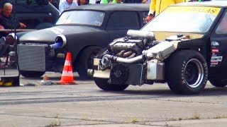 Opel Corsa WALAS Tuning vs Trabant Drag Race Viertelmeile Rennen Motorschaden Engine blow up