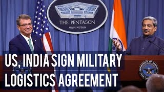 US, India sign military logistics agreement; can now use each other`s land, air, naval bases