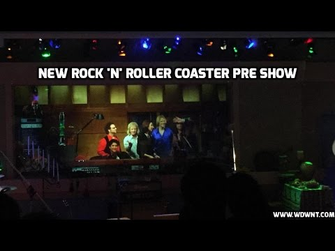 New Rock 'N' Roller Coaster Pre-Show with Edited Steven Tyler of Aerosmith