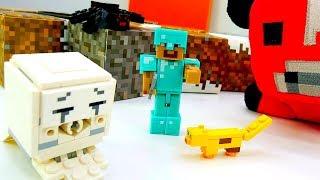 Видео обзор мобов Майнкрафт со Стивом. Игры для мальчиков.