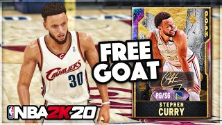 *FREE GOAT* GALAXY OPAL STEPH CURRY GAMEPLAY!! 99 In Every Stat Is INCREDIBLE In NBA 2k20 MyTEAM!!
