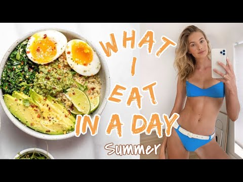 What I Eat in a Day as a Model | Healthy Summer Recipes & Intermittent Fasting | Sanne Vloet