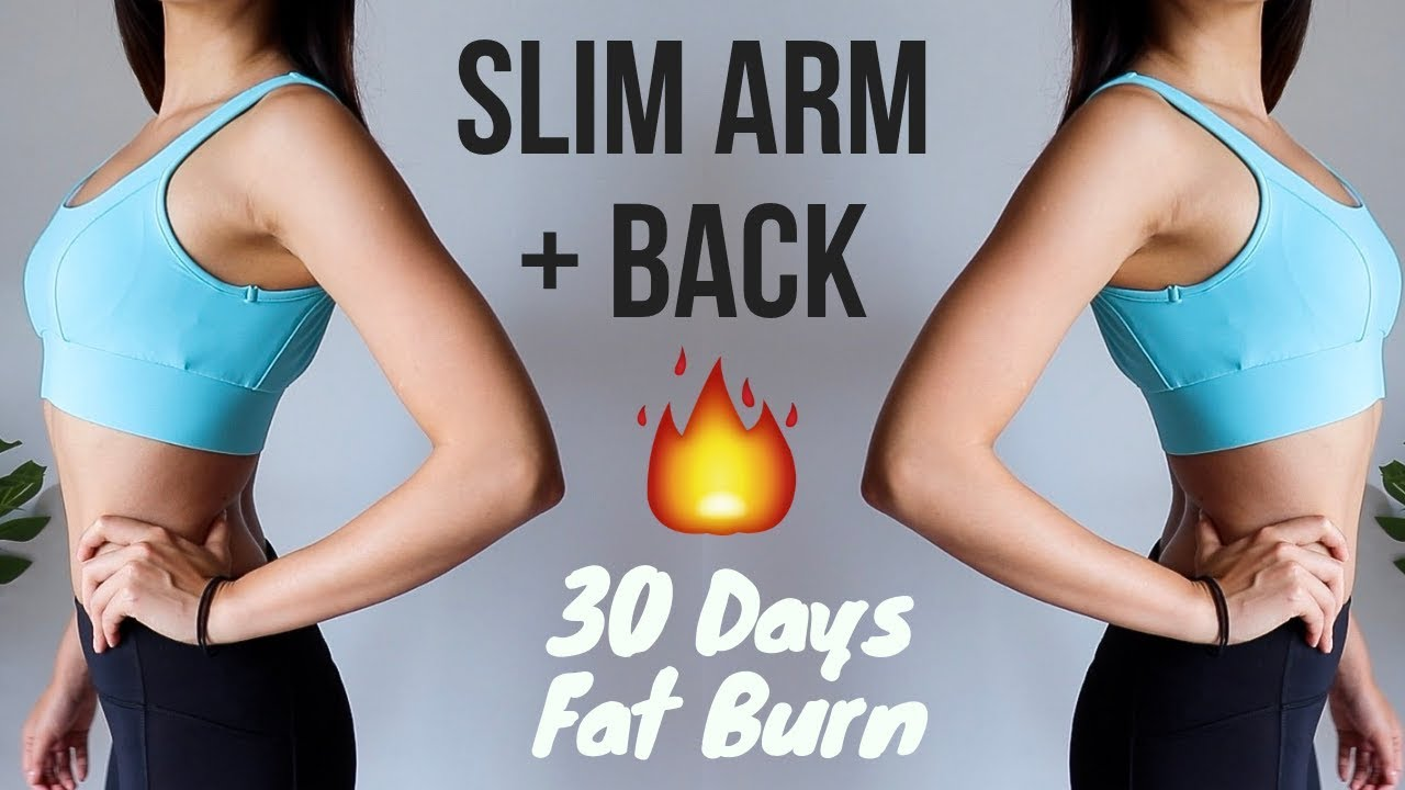 lose arm fat at home
