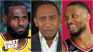 Stephen A. reacts to the Lakers losing Game 1 to the Blazers | First Take