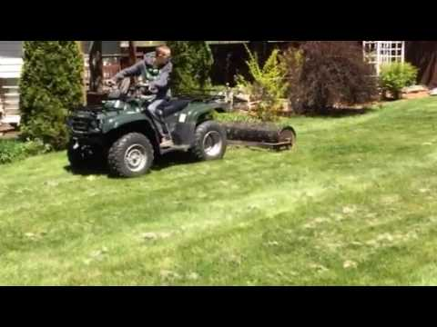 Lawn Roller Aerator Action