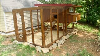 Backyard Chickens - Chicken Coop Tour- Easy To Clean