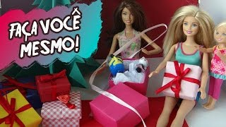 Como fazer caixa de presente para Barbie e outras bonecas