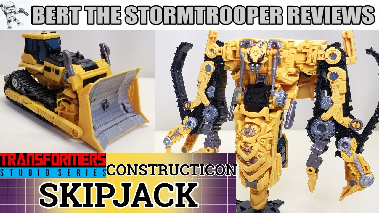 Transformers Studio Series 67 Constructicon SKIPJACK Review by Bert the Stormtrooper