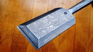 XXXL Japanese chisel from Damascus steel.  Making process