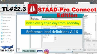 Reference Load Definitions A-16 In STAAD-pro Connect Edition (22.3)