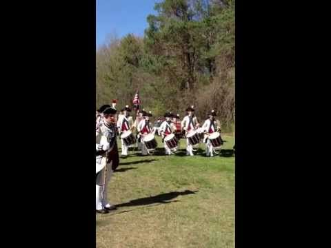 Middlesex County Volunteers Drum Corps from Boston Mass, march off