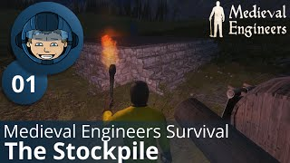 THE STOCKPILE - Medieval Engineers Survival: Ep. #1 - Gameplay & Walkthrough