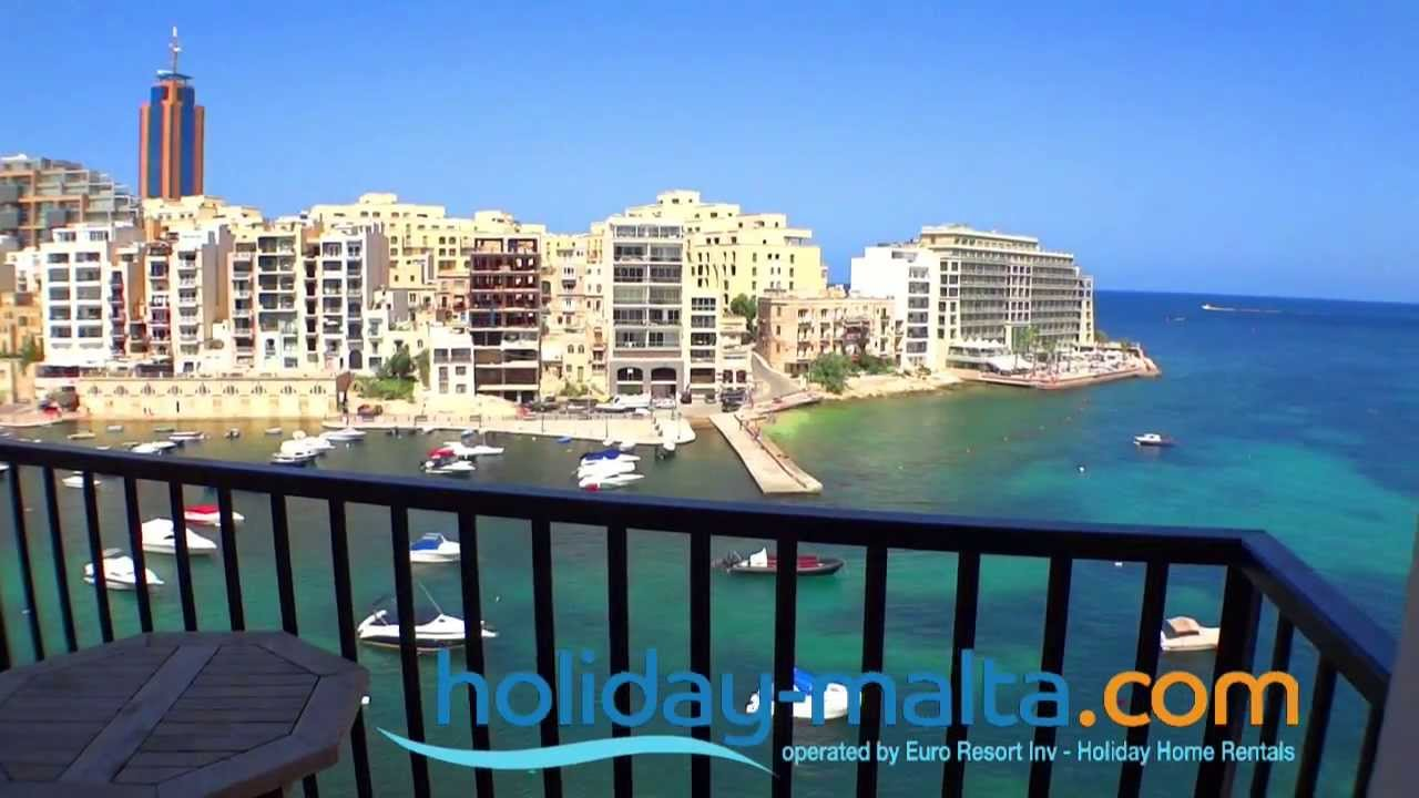 Saint Julians Malta , Direct Seaview Holiday Apartment To Rent (R372)