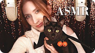 ASMR Whispering to You 🧡 Mic Touching, Nail Damage Story, Random Triggers & Cute Cat Purring 😻