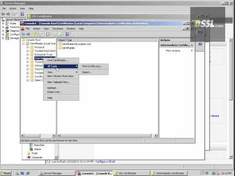How To Install an SSL Certificate for IIS 7 on Windows Server 2008
