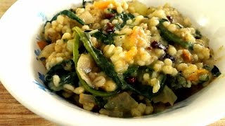 Pearl Barley Risotto Recipe -  Spinach And Potato Curry - Barley Risotto - Hissingcooker.com
