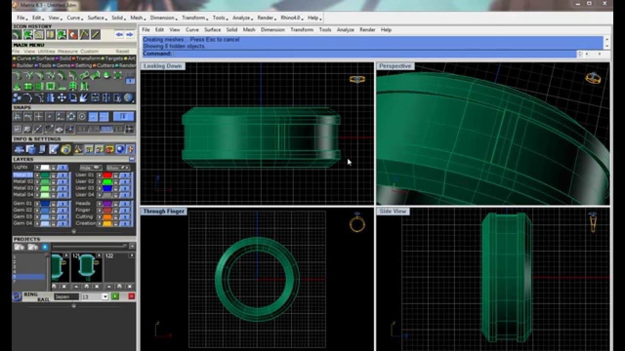 Matrix 3D jewelry design ring software 63 khmer news today