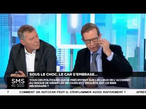 """""""C dans l'air""""   Sous Le Choc, Le Car S'Embrase"""