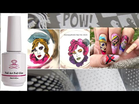 How To Apply Stamping Decals With Makartt Foil Gel Make Your Decal Into A Nail Sticker Youtube