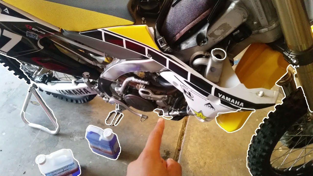Dirt bike prep-Yz250f Coolant change-quick vlog