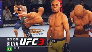 Anderson Silva Is Too Nice! Quick and Lethal Head Kicks - EA Sports UFC 3 Online Gameplay