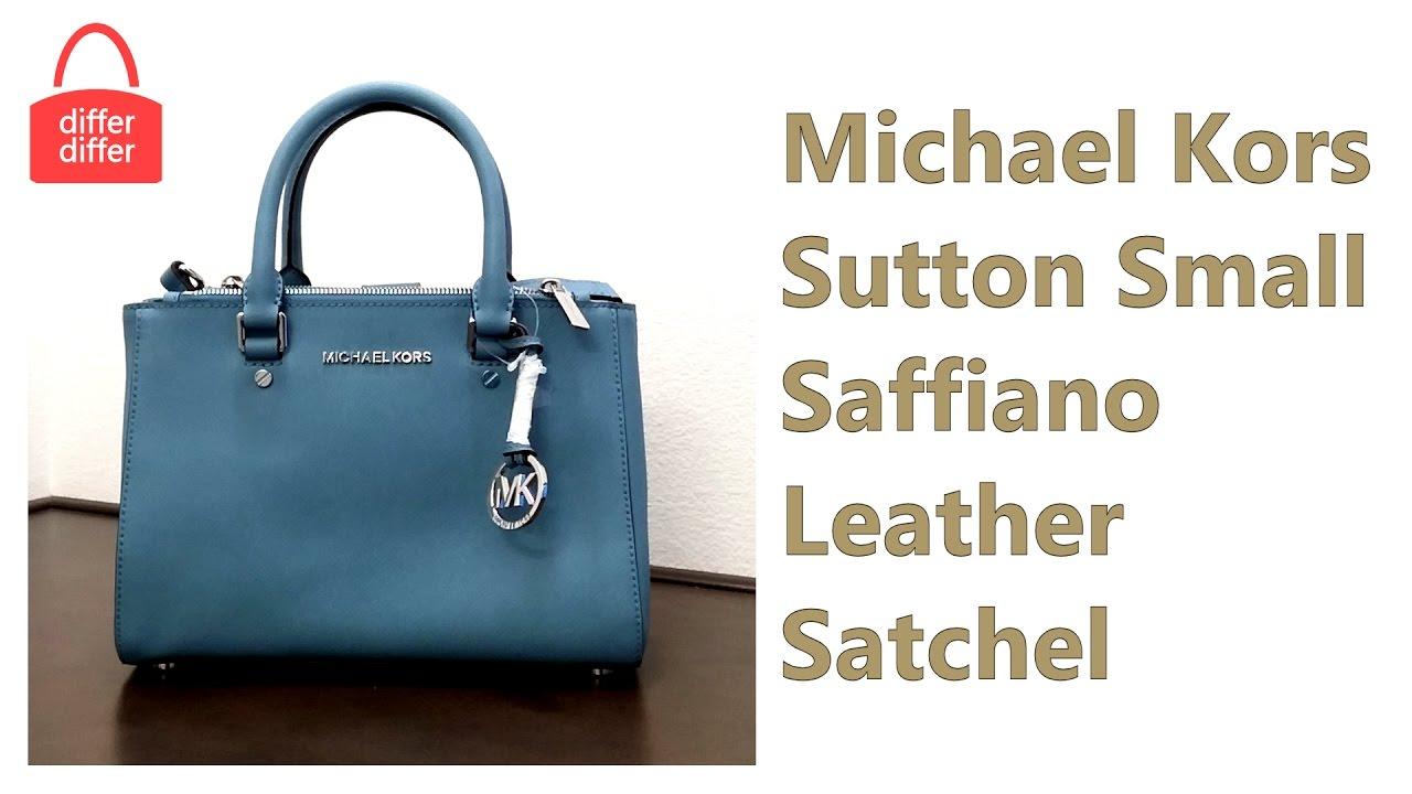 18cee381289f Michael Kors Sutton Small Saffiano Leather Satchel 30F4SSUS5L - YouTube