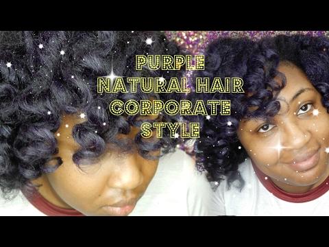 Purple NATURAL HAIR | Corporate America | WOC Friendly
