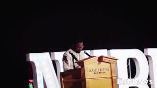 Shane Mosley shout out to Elie Seckbach during hall of fame speech