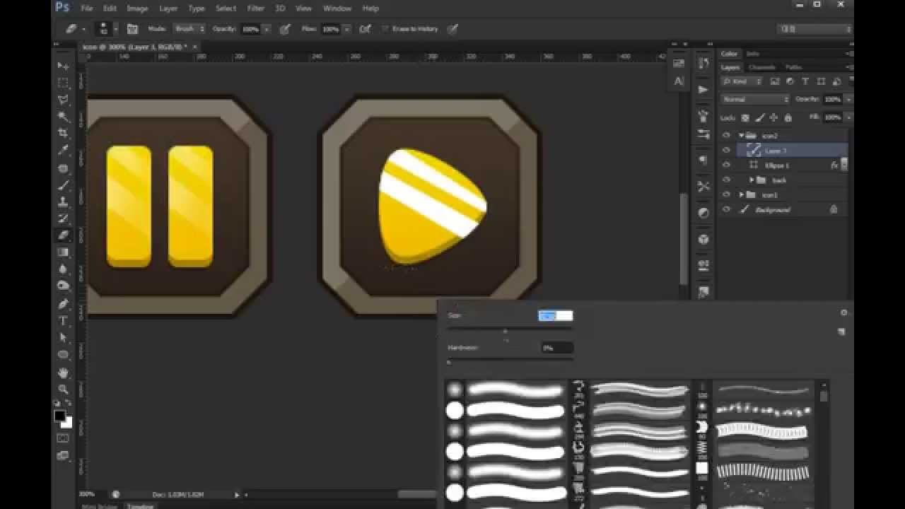 Photoshop game button 02 ui design youtube for Architecture games online free