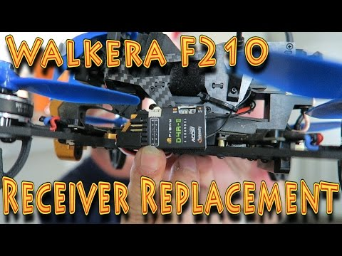 HowTo: Walkera F210 Receiver Replacement FrSky D4R-ii !!(10.10.2016)