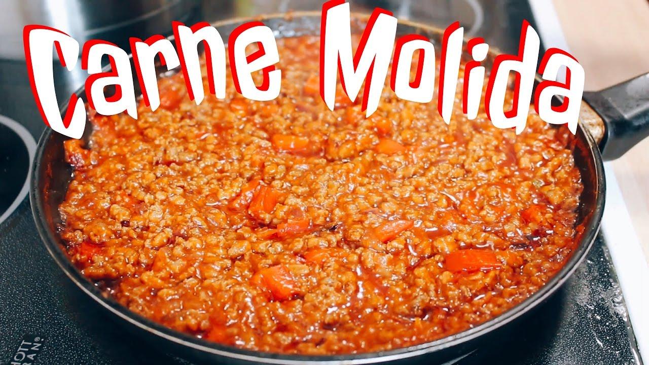 como se prepara la carne molida en salsa