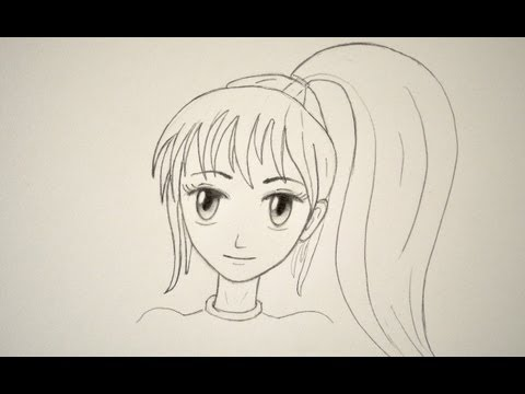 Sad Girl Sketch Wallpaper How To Draw A Manga Face Easily Female Youtube