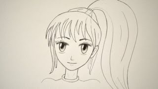 How to Draw a Manga Face Easily (Female)