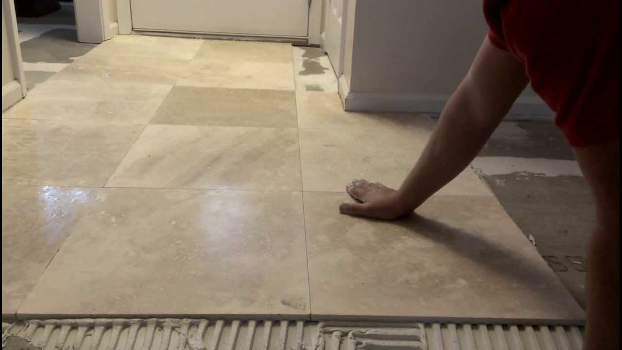 How to install marble tiles - YouTube