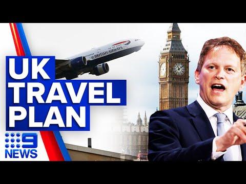 """Coronavirus: """"Traffic light system"""" in place for UK travel   9 News Australia"""