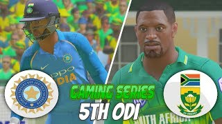 INDIA vs SOUTH AFRICA 2018 5TH ODI - ASHES CRICKET 17 (GAMING SERIES)