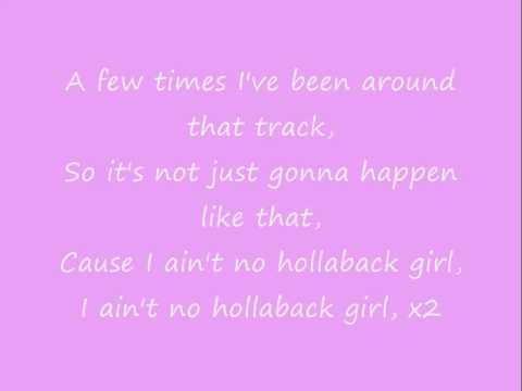 Hollaback Girl - Gwen Stefani Lyrics