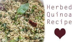 HERBED QUINOA RECIPE! (My favourite way to eat quinoa)