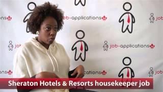 Sheraton Housekeeper Job