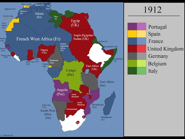 European colonization of Africa : Every Year   YouTube
