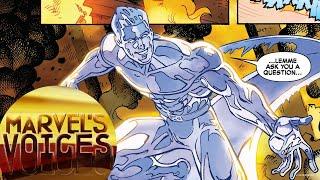Marvel's Voices host Angélique Roché gives a shoutout to Iceman, a....