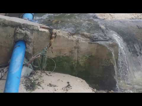 Sewer line going into Ocean in Boracay Philippines