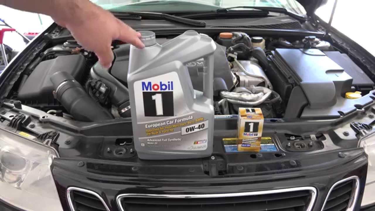 Saab 93 2.8L Oil Change in 4K - YouTube