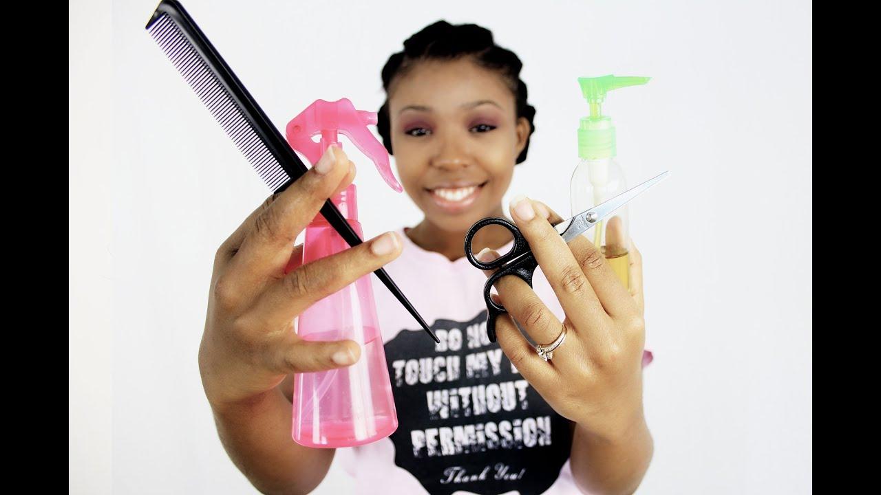 black girls hair white