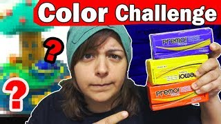 PRIMARY COLOR CHALLENGE (no black or white) 3 colors art craft diy with polymer clay Video
